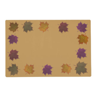 Autumn Leaves Placemat Laminated Placemat