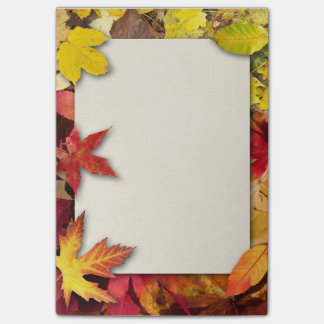 Autumn Leaves Post It Notes