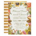 Autumn Leaves Pumpkins Wedding Rehearsal Dinner Card