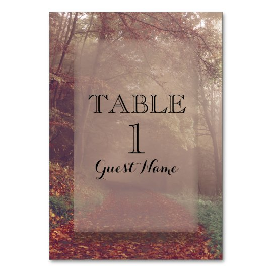 Autumn Leaves Reception Place Card