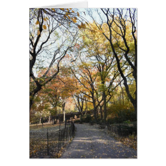 Autumn Leaves Riverside Park New York City NYC Card