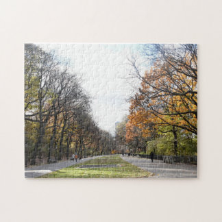 Autumn Leaves Riverside Park New York City NYC Jigsaw Puzzle
