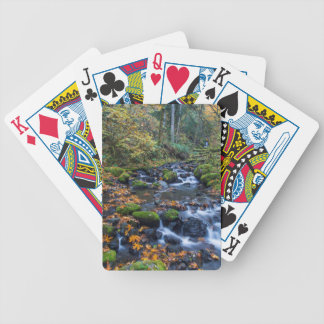 Autumn Leaves Scattered Along Gorton Creek Bicycle Playing Cards