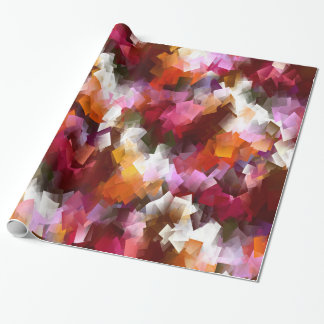 Autumn leaves scattered... wrapping paper