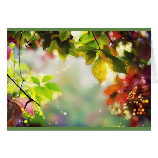 Autumn, leaves, sheets, colored card