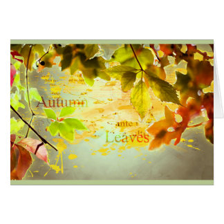 Autumn, leaves, sheets, colored. Digitally kind Card