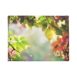 Autumn, leaves, sheets, colored doormat