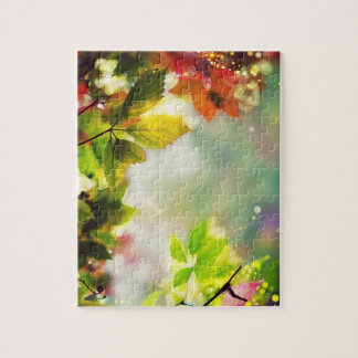 Autumn, leaves, sheets, colored jigsaw puzzle