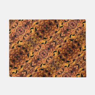 Autumn Leaves Silhouette Modern Pattern Doormat