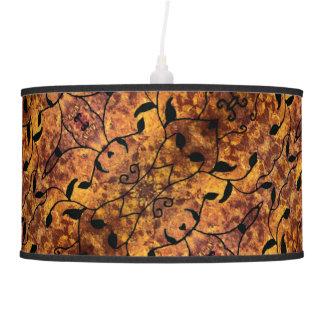Autumn Leaves Silhouette Modern Pattern Pendant Lamp