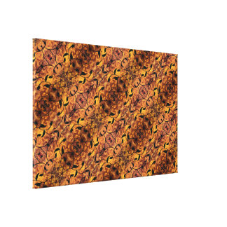 Autumn Leaves Silhouette Pattern Canvas Print