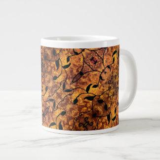Autumn Leaves Silhouette Pattern Large Coffee Mug