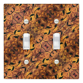 Autumn Leaves Silhouette Pattern Light Switch Cover