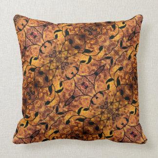Autumn Leaves Silhouette Pattern Throw Pillow