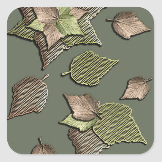 Autumn Leaves Square Sticker