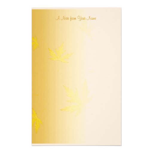 Autumn Leaves Stationery Template