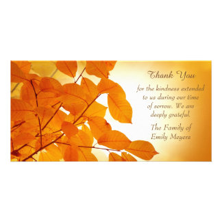 Autumn Leaves Sympathy Thank You Card