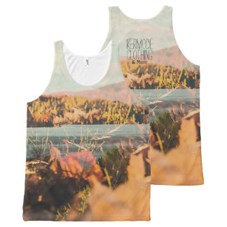 Autumn Leaves Tank Top Mountains In Fall Print