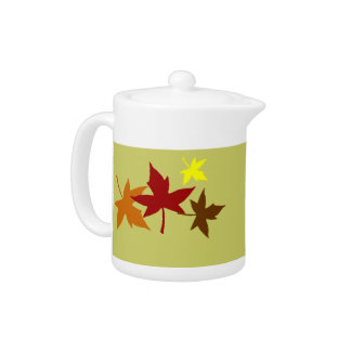 Autumn leaves teapot