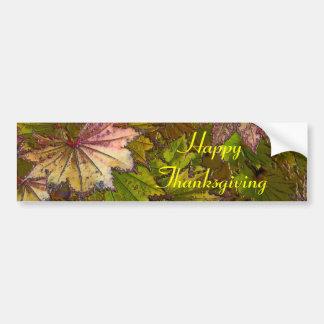 Autumn Leaves: Thanksgiving - Bumper Sticker Car Bumper Sticker