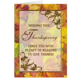 Autumn Leaves Thanksgiving Day Greeting Card