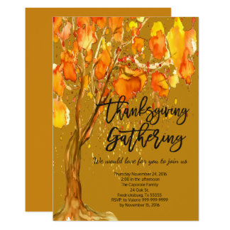 AUTUMN LEAVES THANKSGIVING GATHERING INVITATION