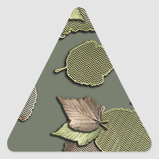 Autumn Leaves Triangle Sticker