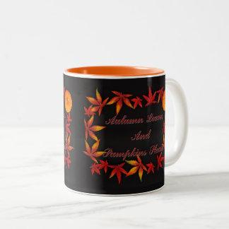 Autumn Leaves Two-Tone Coffee Mug