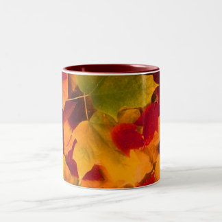 Autumn Leaves Two-Tone Coffee Mug