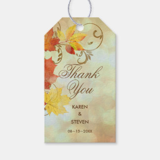 Autumn Leaves Watercolor AWLa Pack Of Gift Tags