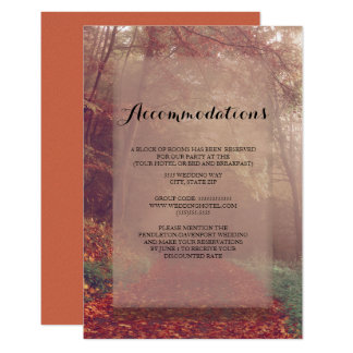 Autumn Leaves Wedding  Accommodations Card