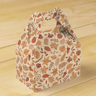 Autumn Leaves Wedding Favor Box