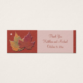 Autumn Leaves Wedding Favor Tags Mini Business Card