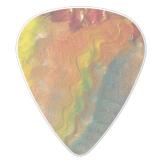 Autumn Leaves White Delrin Guitar Pick