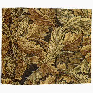 Autumn leaves William Morris pattern 3 Ring Binders