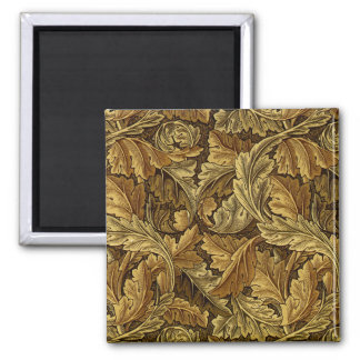 Autumn leaves William Morris pattern Magnet