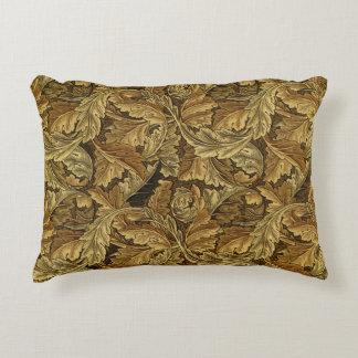 Autumn leaves William Morris vintage pattern Accent Pillow