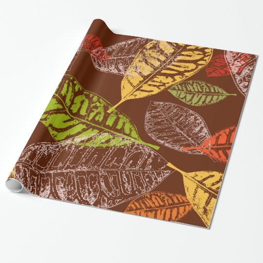 Autumn leaves wrapping paper