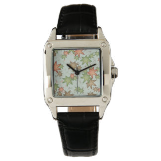 Autumn leaves wrist watches