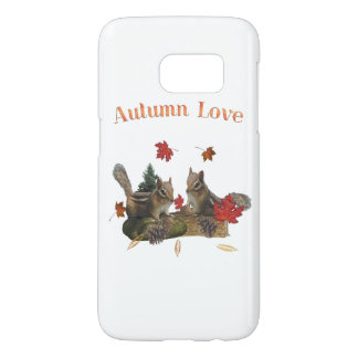 Autumn love chipmunks samsung galaxy s7 case