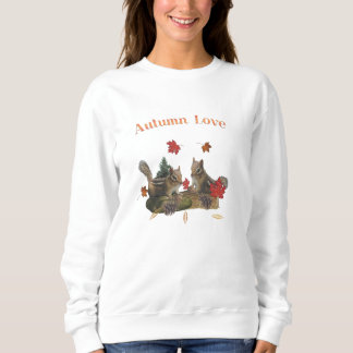 Autumn love chipmunks sweatshirt