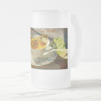 Autumn Love Frosted Glass Beer Mug