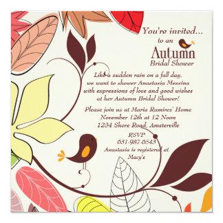 Autumn Lovebirds Invitation