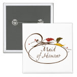 Autumn Maid of Honour 2 Inch Square Button