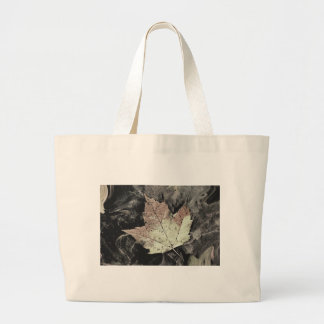 Autumn Maple Leaf Art Large Tote Bag