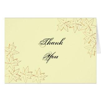Autumn Maple Leaf Edge Thank You Card