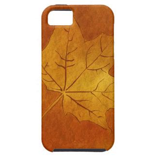 Autumn Maple Leaf in Gold iPhone 5/5S Case