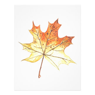 Autumn maple leaf letterhead