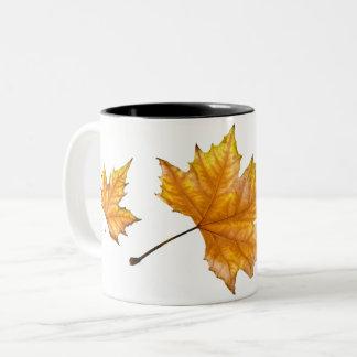 Autumn Maple Leaf Two-Tone Coffee Mug