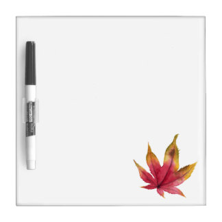Autumn Maple Leaf Watercolor Painting Dry Erase Board
